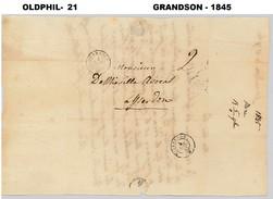 1845, Lettre De GRANDSON