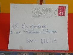 Marcophilie > Flamme > Eaux Chaudes Artouste - Laruns En Ossau - 64 Pyrénées Atlantiques - 1975 - Marcophilie (Lettres)