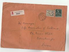 1951 REGISTERED Geneve Malagnou SWITZERLAND  Stamps COVER To GB - Switzerland