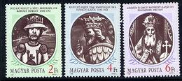 HUNGARY 1988 Hungarian Kings II MNH / **.  Michel 3956-58 - Hungary