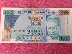 Billet Banque  TANZANIA 100 SHILINGI - Tanzanie