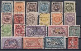 Memel Lot 21 Marken Gestempelt Und Mit Falz Ansehen !!!!!!!!!!!!! - Briefmarken