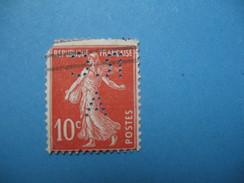 Perforé  Perfin  Référence Ancoper France  : RCA20 - France