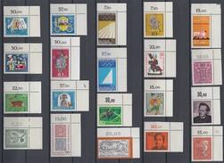 Bund Lot 20 Marken Oberer Rechter Eckrand Postfrisch Lot 3 - Briefmarken