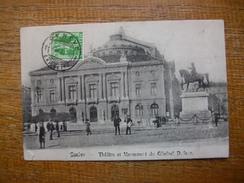 """Suisse , Genève , Théâtre Et Monument Du Général Dufour """""""" Beaux Timbre Suisse Et Taxe Français """" - GE Genève"""