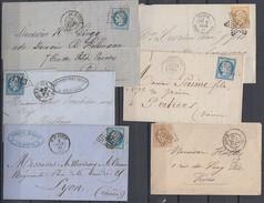Frankreich Lot 6 Alte Briefe Ansehen !!!!!!!!!!!! - Briefmarken