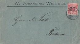 DR Brief EF Minr.47ca Geprüft Werther 19.7.94 Gel. Nach Beckum - Deutschland