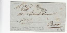 1849 VENETO Coperta BATTAGLIA-PADOVA-t.SCALPELLATO Nel '48 E NTEGRATO A Mano Nel '49-g352 - Italie