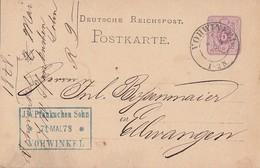 DR Ganzsache K2 Vohwinkel 8.5.78 Seltener Stempel - Briefe U. Dokumente
