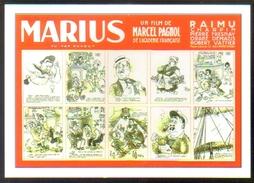 Carte Postale : Illustration Dubout (cinéma Affiche Film) Marius (Marcel Pagnol) - Posters On Cards