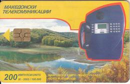 F.Y.R.O.M. - Cardphone(200 Units), Chip GEM3.3, 09/02, Used - Macedonia