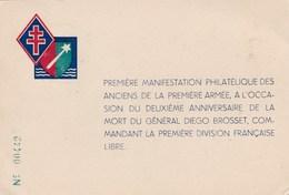 PREMIERE DIVISION FRANÇAISE LIBRE - PEU COURANTE CARTE PHILATÉLIQUE DE 1946 - Regiments