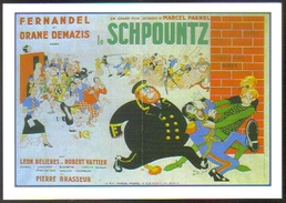 Carte Postale : Illustration Dubout (cinéma Affiche Film) Le Schpountz (Fernandel - Marcel Pagnol) - Posters On Cards