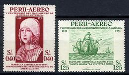 1953 - PERU  - Mi. Nr.  542/543 - LH - (CW2427.27) - Perù