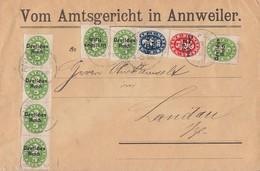 DR Brief Dienst Mif Minr.7x D34,D36,D38 Annweiler 7.12.21 - Dienstpost