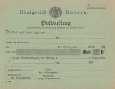 Bayern Vordruck Postauftrag Ansehen !!!!!!!!!!!!!! - Bayern