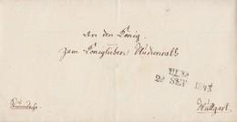 Brief L2 Ulm 28.9.1843 Gel. Nach Stuttgart - Wuerttemberg