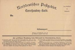 NDP Correspondenz-Karte Blanco - Norddeutscher Postbezirk
