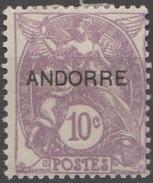 Andorre Française 1931 N° 6 MH Type Blanc Surchargé  (E2) - Neufs