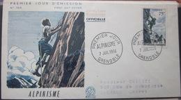 Enveloppe FDC 164 - 1956 - Alpinisme - Grenoble - YT 1075 - Sport - Brieven En Documenten