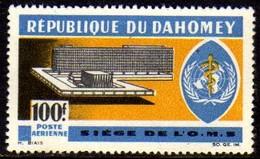 02070 Dahomey Aéreo 36 Sede Da Oms Saúde Nnn - Bénin – Dahomey (1960-...)
