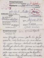 CARTOLINA POW CAMP STALAG XII-D TRIER GERMANIA 1944 X CATENANUOVA - Posta Militare (PM)
