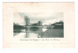 16 Le Pont De Chatenay Environs De Cognac Cpa Cachet 1909 - Cognac