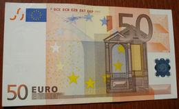50 Euro ITALY (Serie S Plate Number J014 B1) ITALIA ITALIE 2002 WIM DUISENBERG SPL ++ EF ++ SUP ++ Banconota Billet Note - EURO
