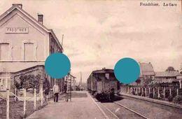 FROIDTHIER ( Thimister Clermont ) LA GARE Cachet Postal 1914 - Thimister-Clermont