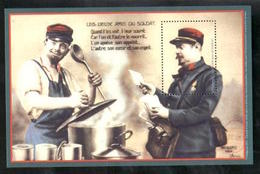 Feuillet Les Deux Amis Du Soldat - Documents De La Poste