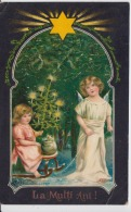 Romania - Christmas - Little Angel And A Little Girl With The Christmas Tree And  With Presents - Focsani Postmark - Christmas