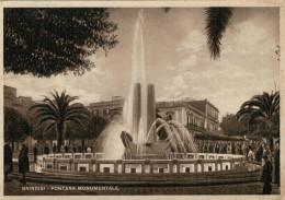 BRINDISI    FONTANA  MONUMENTALE               (VIAGGIATA) - Brindisi