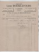 Facture Maison Léon Roose-D'Ours Place De Londres Ixelles-Bruxelles BXL 13/6/1906 PR4417 - 1900 – 1949