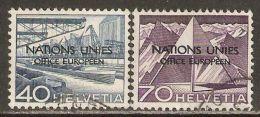 Switzerland 1950 ONU / UNO Mi# 8, 11 Used - Dienstzegels
