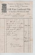Facture J.B.Van Linthout Fils Rue Bara Bruxelles - Midi BXL 1900 PR4418 - 1900 – 1949