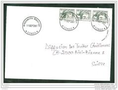 COVER  CONGO TO SWITZERLAND (BRAZZAVILLE-BACONGO TO BIEL/BIENNE 11.09.2001) LEGAL RARE - Congo - Brazzaville