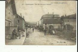 Cornimont  88    La Rue  Des Champs A Nabor  Tres Animée-Epicerie Et Café - Cornimont