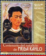Ref. MX-2540 MEXICO 2007 FAMOUS PEOPLE, FRIDA KAHLO, PAINTER,, DOG, MNH 1V Sc# 2540 - Honden