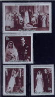 COOK ISLAND  1972, MNH, # 335-38,  25th ANNIVERSARY Of  Their Mariage  PRINCESS ELIZABETH & The PRINCE  MNH - Cook