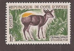 IVORY COAST 1963-64, MNH # 201  Yellow-back Duiker  MNH - Côte D'Ivoire (1960-...)
