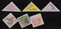 LIBERIA  1953  MH # 341-46,  BIRDS        MH - Liberia