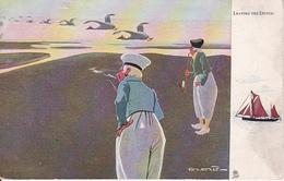 AK Leaving The Dutch - Oilette - Ca. 1920 (28249) - Europe