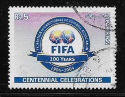 PAKISTAN  2004, USED #1035b,    FIFA CENTENARY:  BLUE PANEL AT BOTTOM  USED - Pakistan