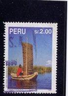 PERU, 1995,  USED #1107,    REED BOAT LAKE TITICACA  USED - Pérou