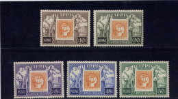 PHILIPPINES  1954  MNH # 605-07, C74-75, CENTENARY Of POSTAGE STAMPS   MNH   SET Incomplete: C76 MISSING - Philippines
