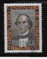 VENESUALA    USED # C911, FIRMIN TORO, SALEMAN & WRITER   USED - Venezuela