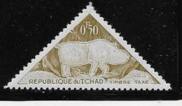 CHAD , 1962  MNHD  #J23   Rhinoceros        Mnh - Tchad (1960-...)