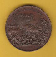 Medaille Prise De La Bastille 14 Juillet 1789 Et Le Donjon De Vincenne Rogat 1844 Diam 4.2cm 43gr Cuivre Poinçon - France