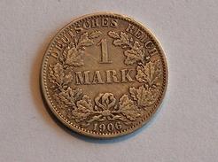 ALLEMAGNE 1 MARK 1906 A ARGENT SILVER Germany Deutschland Ein - [ 2] 1871-1918: Deutsches Kaiserreich