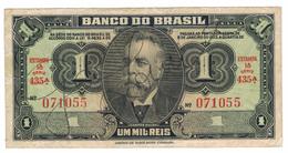Brazil, 1 Mil Reis, VF .  Free Ship. To USA. - Brazil